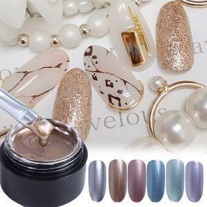 PerfectectionsMetallic Color Nail Gel Gel Polish Barniz Laca Pintura Spider Web Dibujo Dorado Silver Mirror Glitter UV Gel Manicure NL776