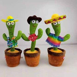 Dancing Cactus Pelúcia Brinquedos Recheado Hawaiian Mexican Roupas Músicas Luzes Simulação Boneca M3469-4