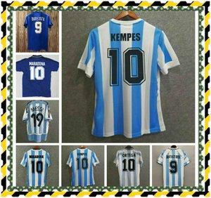 Maradona Soccer Jerseys Retro Version 1978 الأرجنتين 1986 خمر قميص كرة القدم 1981 Boca Juniors 1987 1988 1989 Napoli 87 88 Maillot