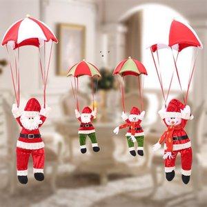 Christmas Hanging Ornament Santa Claus Snowman Parachute Ceiling Pendant Indoor Outdoor Festive Holiday Decor OWB10564