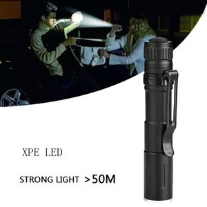 Flashlights Torches Mini 3-speed Waterproof Aluminum 5W 5V A Battery XPE LED Zoomable Lanterna Torch For Camping Emergency Bul