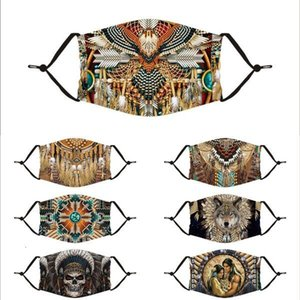 Luxurys Designers Masks Animal Funny Print Audlt Washable Indian Designer Fashion Face Mask