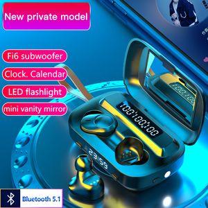 M13 TWS Touch Wireless Bluetooth 5.1 Earbuds Headphones In Ear Stereo Sport IPX7 Waterproof Headsets Noise Reduction Earphones
