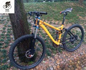 190mm Travel Full Suspension Bicycle Hydraulic Brakes Mountain Bike M4000 27 Speed 26*17inch Bikes