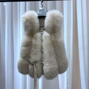 Women's Fur & Faux 2021 Style Real Vest Women Winter Jacket Sleeveless Genuine Gilet High Quality Female Waistcoat