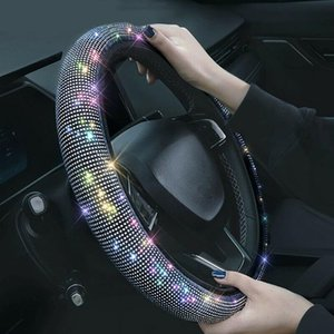 Рулевые крышки колеса автомобиль кристалл алмазное покрытие Bling горный хрусталь универсальный подходящий 37 38см внедорожник