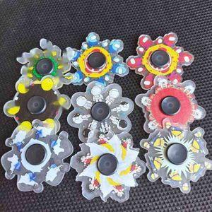 Tiktok мультфильм палец спиннинг игрушки коробка упаковка работает динамические спиннеры стресс-сброс Fidget Spinner будет бегать пальцами фильма EDC Demsnermate Toy G61VMXG