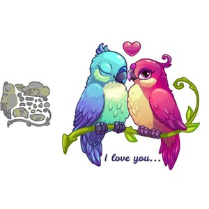 Painting Supplies Cute Birds Couple In Love Metal Craft Dies Cutting For Diy Scrapbooking Paper Handmade Mold 2021 Embossing