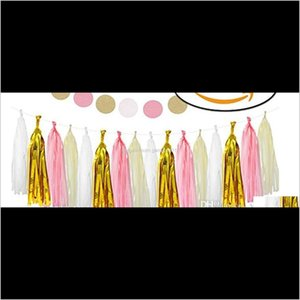 Other Event & Supplies Tissue Paper Tassel Diy Party Garland For Baby Decoration Bridal Shower Wedding Bunting Pom Poms Oyxeq 3G6A0
