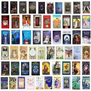 200 Juegos de tarjetas Tarot de estilo Oracle Art Nouveau La bruja verde Universal Celtic Thelema Steampunk Board Deck Gyq