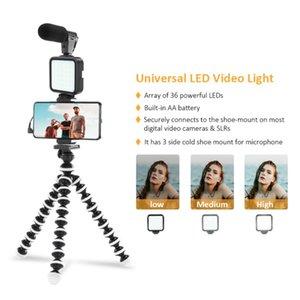 Professional Smartphone Video Po Kit Clip Mic Light Tripod For YouTube Live Recording Handle Stabilizer Bracket Lighting & Studio Accessorie