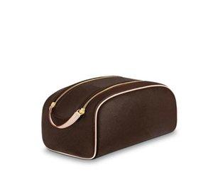 2021 classic fashion travel purses zipper bags leather women luxurys wash cosmetic bag Designers makeup toiletry Pouch