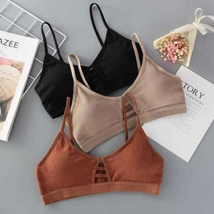 Thread Crop Top Woman Cotton Hollow Out Tank Tops Breathable Cozy Tube Top Female Knitted Bralette Underwear Women Soft Lingerie