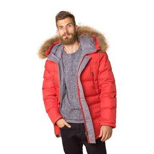 Down High Quality Men's Raccoon Fur Hood Winter Warm Jacket Duck Parka Windproof Casual Outer Coat for Men