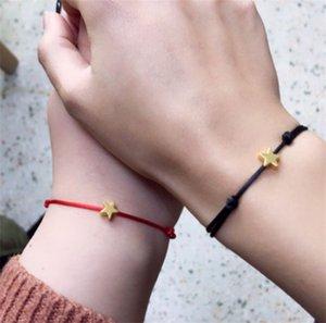 Handmade Heart Crown Charm Bracelet Lucky Red String Wax Rope Bracelets Friendship Jewelry C3