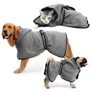 كلب حمام فائق ماصة حمام منشفة للكلاب المتوسطة الصغيرة كبيرة تجفيف سريعة الاستمالة الحيوانات الأليفة الاستحمام البدلة