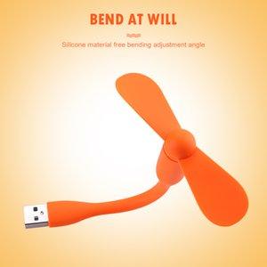 Mini Flexible Bendable USB Fan for Power Bank Laptop PC AC Charger Portable Hand Fan Computer Summer Gadget