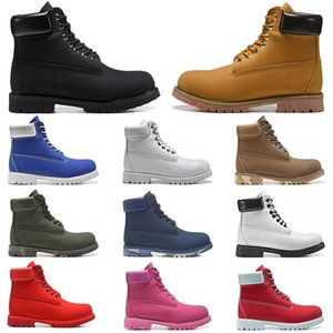 men boots designer mens womens leather shoes Fashion top quality Ankle winter boot for cowboy yellow red blue black pink hiking work size 36-45
