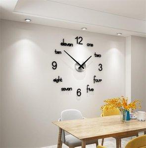 Meisd Qualität Acryl Wanduhr Kreative Modern Design Quarz Aufkleber Watch Schwarz Wohnkultur Wohnzimmer Horloge 1267 v2