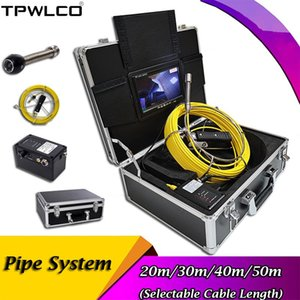 """7"""" TFT LCD Screen Monitor Pipeline Inspection Industrial Endoscope System 20-50m Waterproof 17mm Pipe Plumbing Snake Camera IP Cameras"""