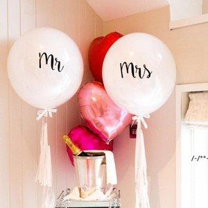NEWMr Mrs Balloon Large 36inch Round Latex Balloon Valentine Day Wedding Bachelorette Party Decor Supplies RRD9192