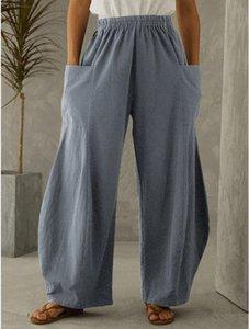Pantalons Femmes Capris 2021 Europe et Amérique Vendre Pantalon à la taille d'élastique