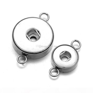 Noosa Snap Jewelry Findings Stainless Steel Silver 18mm 12mm Snap Buttons DIY Accessories For DIY Snap Bracelet Necklace