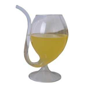 Wine Glasses Large Capacity Straw Cup Whiskey Glass Durable Safe.Heat Resistant Sucking Juice Milk Drinking Tube Portable Water Cups