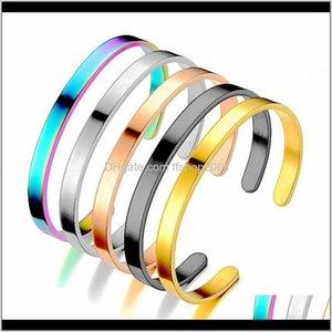 Простая из нержавеющей стали браслет золота черный открытый регулируемый браслет браслет для женщин мужские модные украшения будут и песчаные Голпл Фозы