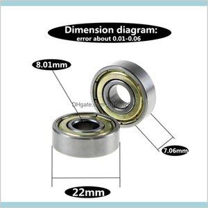 Bearings Replacement Parts Industrial Supplies & Mro Office School Business Double Shielded Miniature High-Carbon Steel Single Row 608