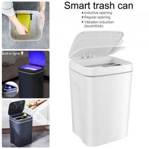 Waste Bins Home Smart Trash Household Intelligent Contactless Induction Type Bin Kitchen Bathroom Dustbin