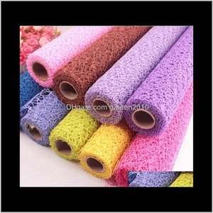 50X450Cm Fancy Net Lace Hollowedout Mesh Bouquet Wrapping Packaging Paper Packing Business Industrial Ha732 Ukkce Xcn6M