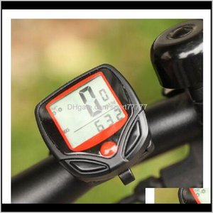Computers Sports & Outdoors Drop Delivery 2021 Bicycle Computer Lcd Digital Display Waterproof Stopwatch Speed Meter Cycling Aessories Bike S