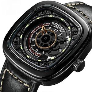 2021 Weisikai relógios de pulso automático homens quadrados criativos automático relógios mecânicos luminosos relógio de pulso macho