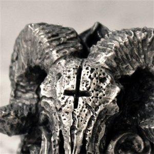 Satanic Démon Satanic Satanic Hommes Cool Biker Ring Bijoux Anniversaire Jour Jour Notre taille 7-14 595 Q2