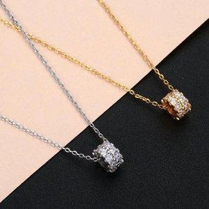 Ball Round Zircon Necklace Choker Luxury Rhinestone Crystal Shiny Shape Pendant Women Gift Bijoux Collares Necklaces