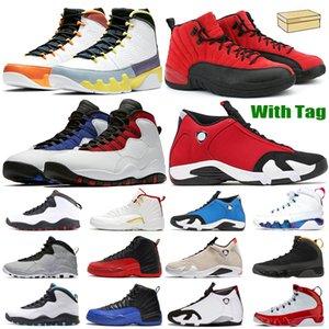2021 Мужчины Баскетбольные туфли Женщины jumpman 14 14s Тренажерный зал Красный UNC 12s Университет золотой Темный Concord Fiba Обратный грипп Игра 9S Compreed