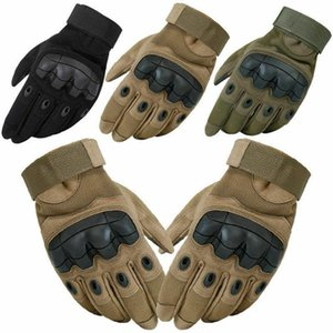 Cycling Gloves Tactical Hard Rubber Knuckle Mens Army Military Combat Paintball Hunting Fitness Men Guantes Moto