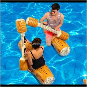 Floats Tubes 4 Piecesset Joust Pool Float Game Inflatable Water Sports Bumper Toys For Adult Children Party Gladiator Raft Kickboard N Efmae