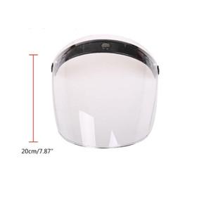 Motorcycle Helmets 3 4 Open Face Helmet Visor Sun Shade Protector For 3-snap Retro Accessories