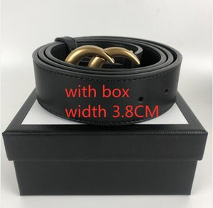 Width 3.8CM 20 Color 2021 Belt Man ladies jeans Fashion Genuine Leather Women Belts For men Letter Double G buckle mens with box 90-125CM