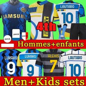INTER soccer jersey LUKAKU MILAN VIDAL BARELLA LAUTARO ERIKSEN ALEXIS HAKIMI 21 22 football shirt 2021 2022 uniforms men + kids kit 4th fourth