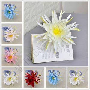 21cm DIY artificial head 6 colors fashion silk epiphyllum heads for wedding party supplies simulation flower home decor K7IT