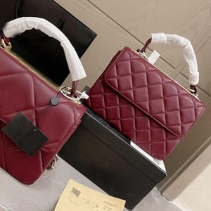 Women Luxury Designer bag High Quality purse Wholesale wallet Genuine Leather Shoulder Flap Handbag small and big lattice diamond size 25cm satchels