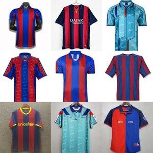 Retro Fútbol Jersey Barcelona 96 97 07 08 09 10 11 Xavi Ronaldinho Ronaldo Rivaldo Guardiola Iniesta Finales Messi Maillot de Pie
