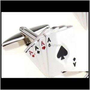 Ссылки галстуки Clasps, Takes Drop Доставка 2021 Мужчины Poker Французские Запонки Запонки Манжеты Ссылка Ювелирные Изделия Рубашки для Мужской Разлом Дар Рождество Lul6Q
