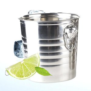 Ice Buckets And Coolers Stainless Steel Ices Bucket Cool Durable For Champagne Wine Wedding Party KTV Bar HYD88