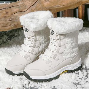 Designer 2021 boots shoes women's winter warm middle calf snow ladies lace up comfortable ladies sneakers