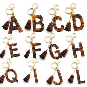 Акриловые буквы Tassele Подвеска брелок модный начальный алфавит леопард шарм брелок a-z брелок аксессуары