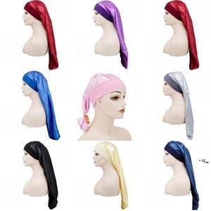 NewLong Hats Silk Satin Tapas de ducha Capas de pelo Caballo de cabeza Encargado de cabeza Pitted Durag Ponagy Laasticity Elasticity Cap Daop Fashion Beanie Turban EWB7268
